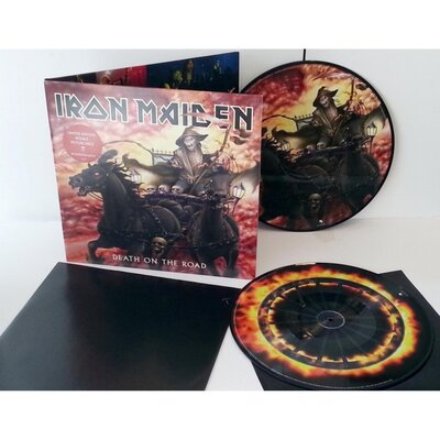 IRON MAIDEN, DEATH ON THE ROAD-LIVE LTD., VINYL LP